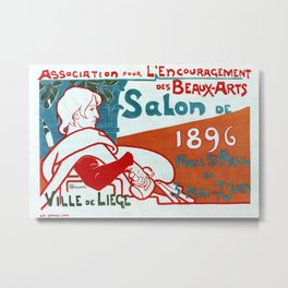 Liège 1896 Art salon Metal Print
