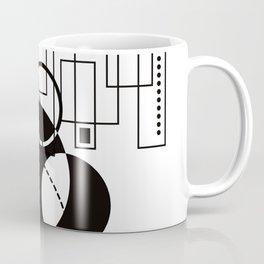 Atomic Floorplan Geometric Abstract Black White Coffee Mug