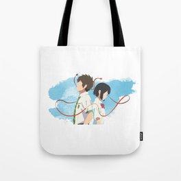 Your Name Minimalist (Taki and Mitsuha) Tote Bag