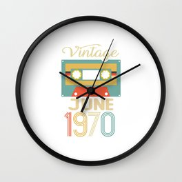 Vintage June 1970 50th Birthday 50 Year Old Gift Wall Clock