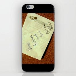 MEMO: iPhone Skin
