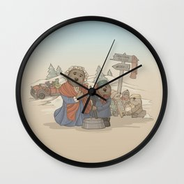 With Kindness, There's Room for us All. Wall Clock