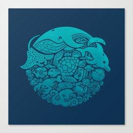 Aquatic Spectrum Canvas Print