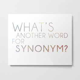 What's Another Name for Synonym?  Metal Print