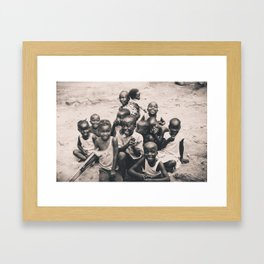 African children. Framed Art Print