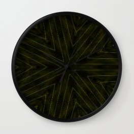 Dark Olive Green Snowflake Wall Clock