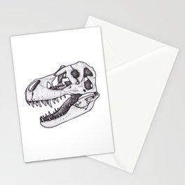 T. rex skull Stationery Cards