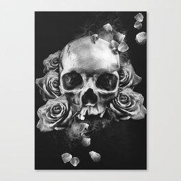 SKULL & ROSES II Canvas Print