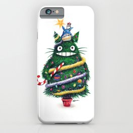 Christmas TOTOR0 (Studio Ghibli) iPhone Case