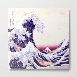 The Great wave purple fuchsia Metal Print