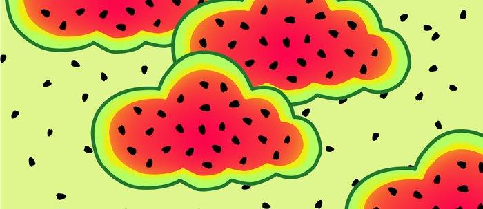 Watermelon Clouds Design Coffee Mug