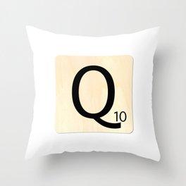 Scrabble Q Throw Pillow