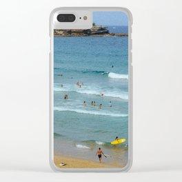 Surfs Up, Bondi Clear iPhone Case