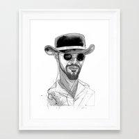 django Framed Art Prints featuring Django by Andy Christofi