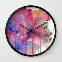Glass Candy Wall Clock