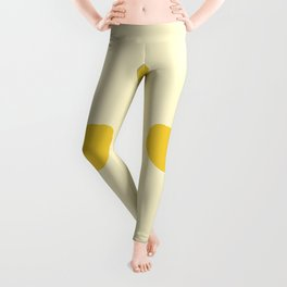 Lemons simple design pattern for fabric seamless pattern with yellow background Leggings
