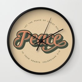 """PEACE"" Bible Verse Print Wall Clock"