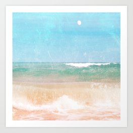 Sea and Moon Art Print