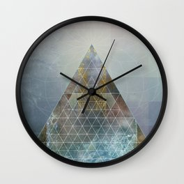 Perseid - Contemporary Geometric Pyramid Wall Clock