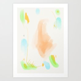Abstract sunrise S5 Art Print