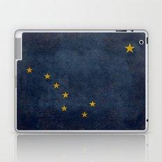 Alaskan State Flag, Distressed worn style Laptop & iPad Skin