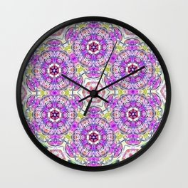 Purple Flower Bouquet Wall Clock