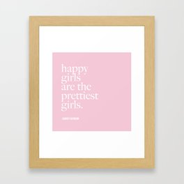 Happy Girl Pretty Girls Framed Art Print