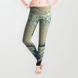 The Great Wave off Kanagawa Leggings