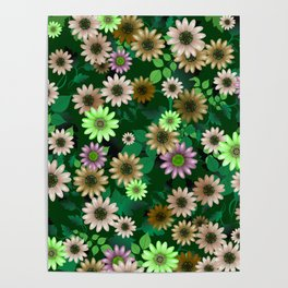 Multicolored natural flowers 5 Poster
