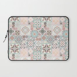 Moroccan Tile Pattern with Rose Gold Laptop Sleeve
