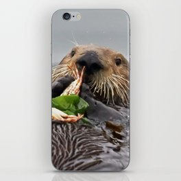 Sea Otter Crab Breakfast iPhone Skin