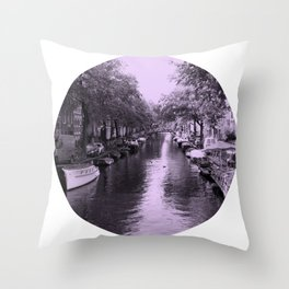 Amsterdam Canal #2 Throw Pillow