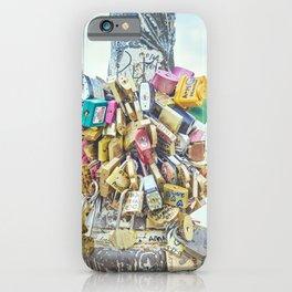 Paris Love locks II iPhone Case