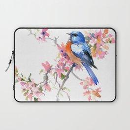 Bluebird and Cherry Blossom Laptop Sleeve