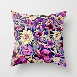 Floral dreams No1 Throw Pillow