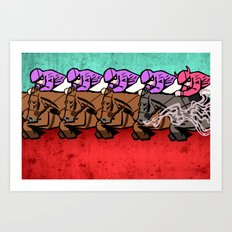 The Race Art Print