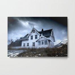 Creepy house Metal Print