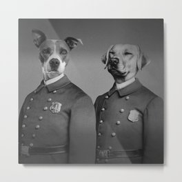 Crime Fighting Pooches Metal Print