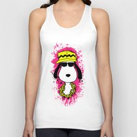 snoopy Tank Tops featuring Snoopy Dog by Mateus Quandt