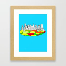 Skyscrapers in the trees Framed Art Print