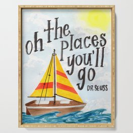 Oh the Places You'll Go - Dr. Seuss Serving Tray