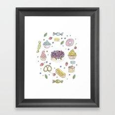 Sweet cake Framed Art Print