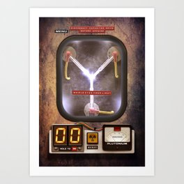 FLUX CAPACITOR Art Print