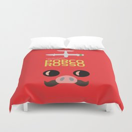 Porco Rosso - Hayao Miyazaki minimalist movie poster - Studio Ghibli, japanese animated film Duvet Cover