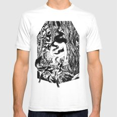 'The Erl King will do you grievous harm' MEDIUM White Mens Fitted Tee