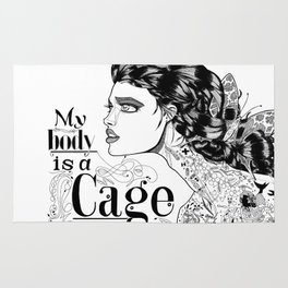 My body is a cage Rug
