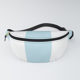 Aqua Blue and white stripe Fanny Pack
