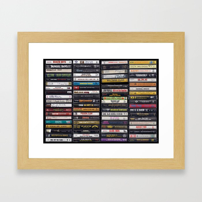 Old 80's & 90's Hip Hop Tapes Gerahmter Kunstdruck