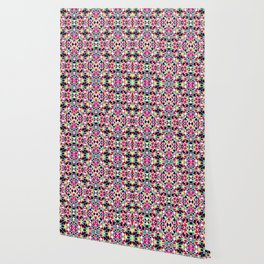Multicolored Abstract Geometric Pattern Wallpaper