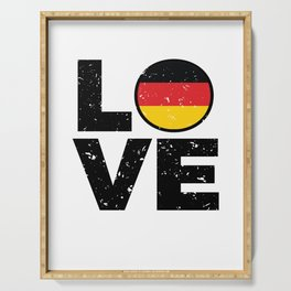 Germany Flag Shirt German Gift Idea Love Serving Tray